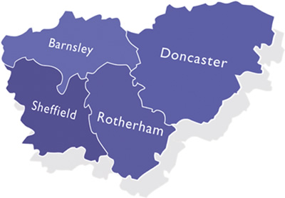 South Yorkshire: Sheffield, Rotherham, Barnsley, Doncaster